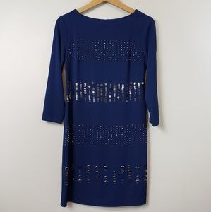 Donna Morgan Beaded Stripe Dress